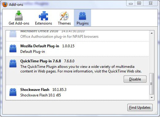 QuickTime  Plug-in  for Chrome/Firefox/Safari