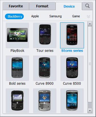 convert video into BlackBerry