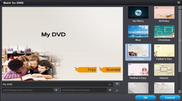 menu template for windows DVD maker