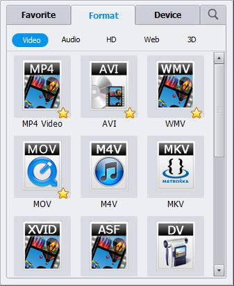 Select WMV as the output format
