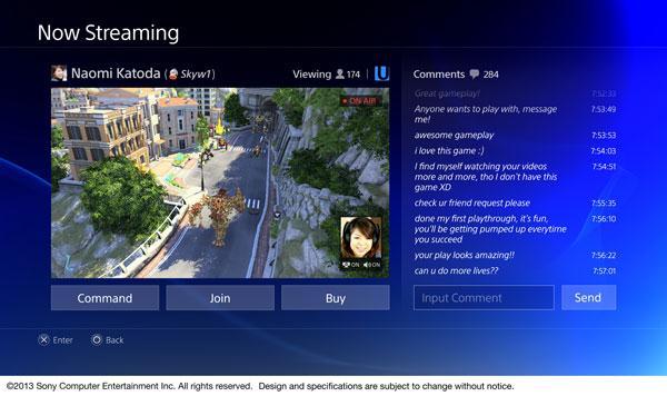 PS4 live broadcast