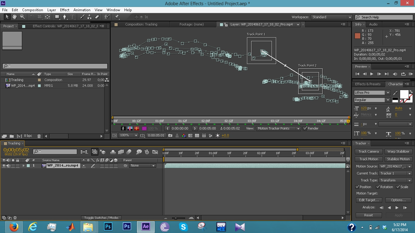 track motion in after effects