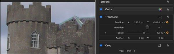 create ken burns in fcp