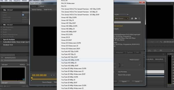 Export videos in Adobe Premiere
