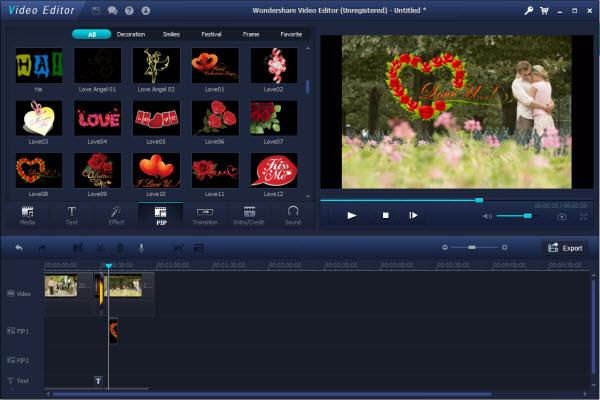 Video editor - picture in picture video