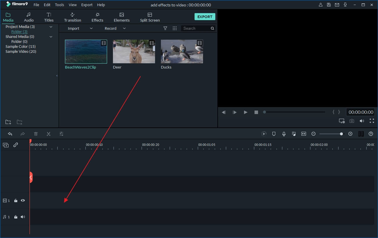 import videos to crop