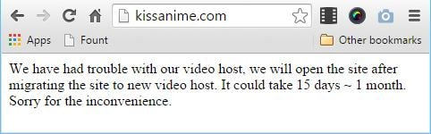 kissanime is down