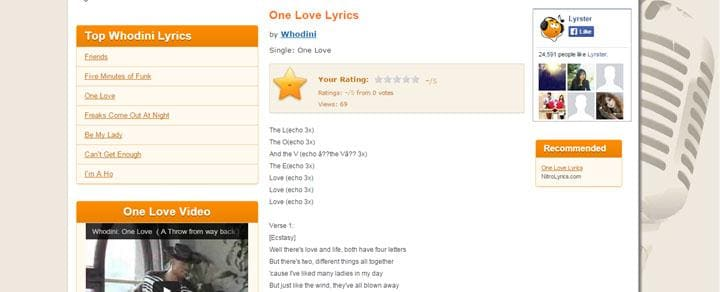 10 sites for music lyrics free