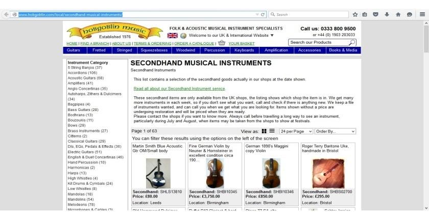 köpa instrument