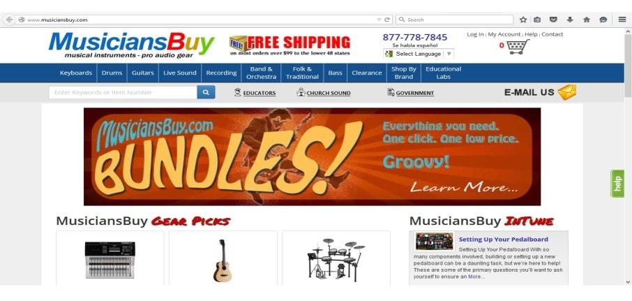 instrument store Online
