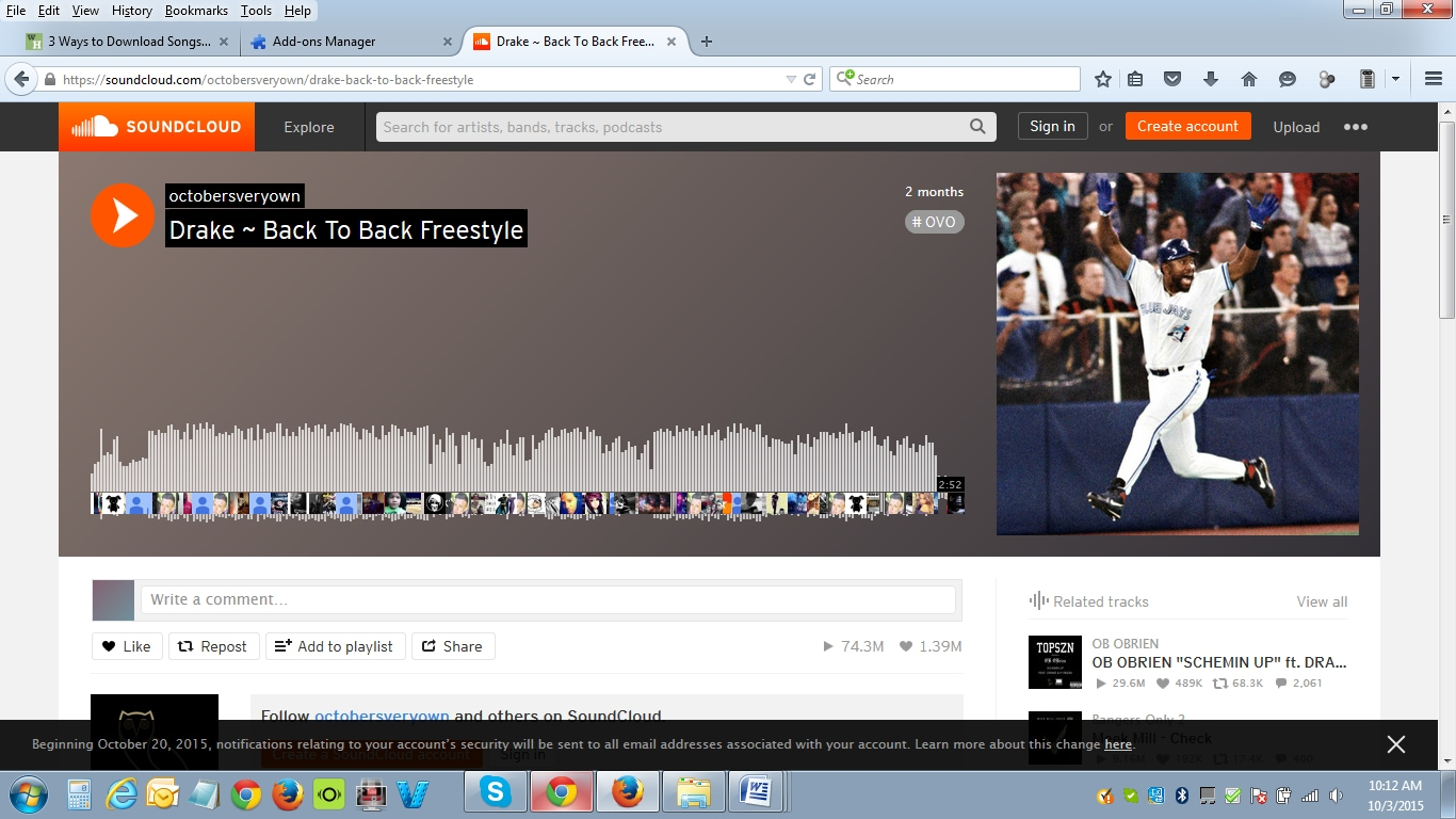 How to get songs downloaded from Soundcloud