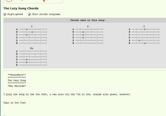 Top 5 Guitar sheets sites