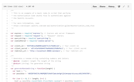 Knowledge of spotify API for Spotify Developer
