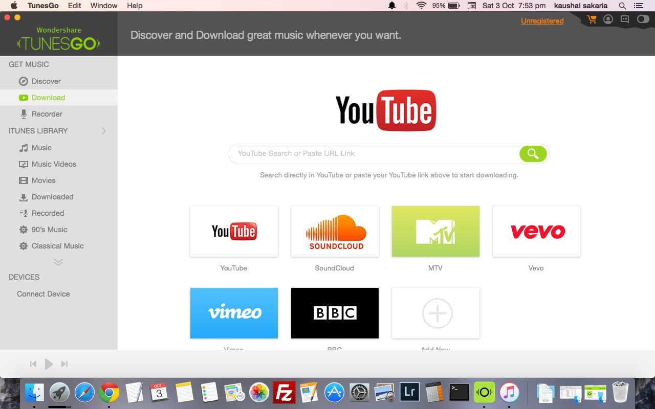Soundcloud link downloader