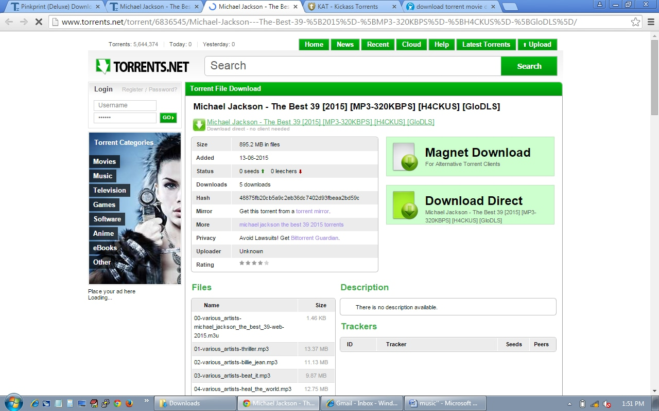 How to download music torrent or music album