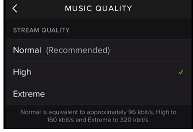 How to get Spotify High Quality streaming?