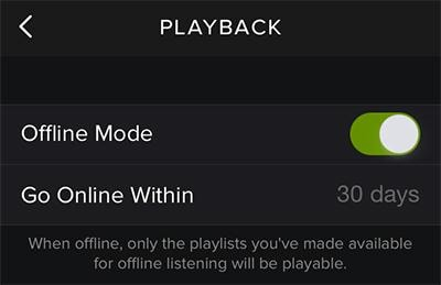 Spotify for iPhone online or Spotify offline iPhone
