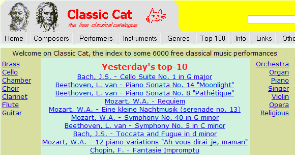 The Best 5 Sites to Sownload Classical Music