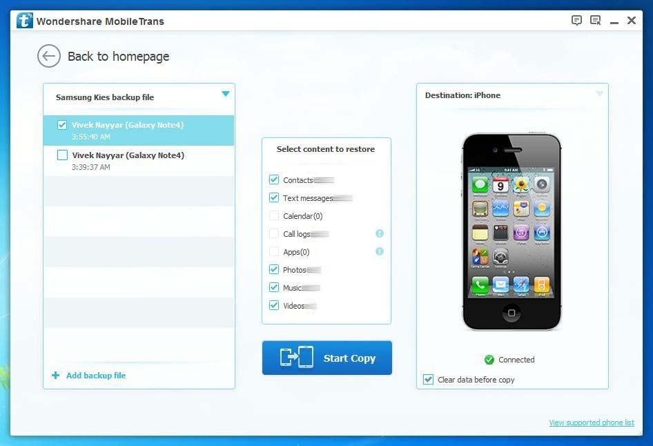 The Easiest Way to Restore Kies Backup to iOS 9
