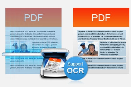 Advanced OCR to Convert Scanned PDF (Only for PDF Converter Pro)