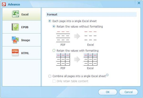 how to convert PDF to Excel 2003