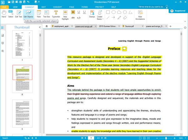 Wondershare PDF Editor full screenshot