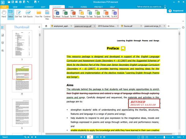 Wondershare PDF Editor Screenshot