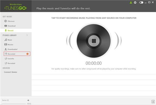 Record music From Rdio/Radio to Android Phone