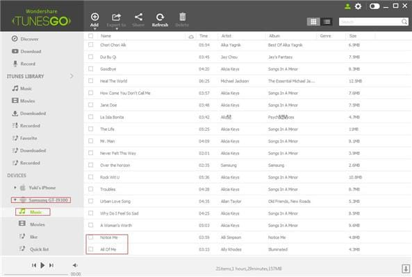 Transfer music from iTunes to Android phone