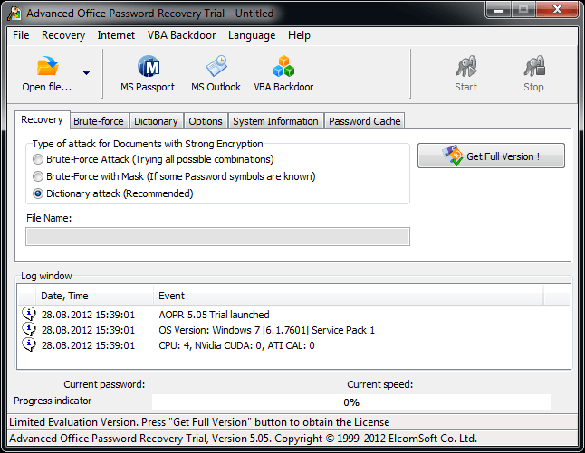 advanced office password recovery 04
