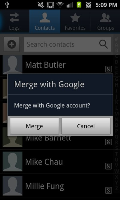 transfer contacts to new android