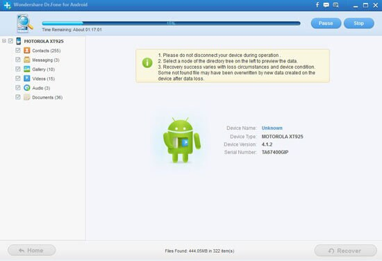 recover lost contacts from motorola droid rarz