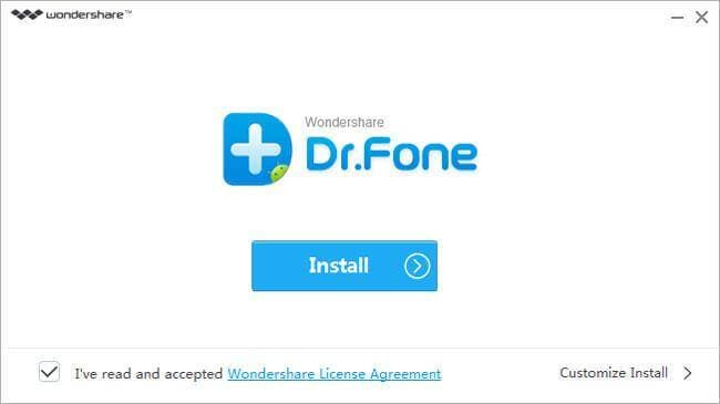 install Wondershare Dr.Fone for Android
