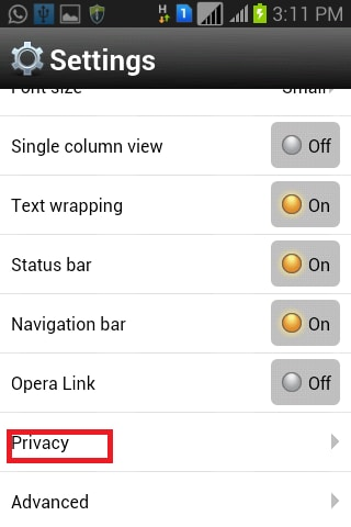 how to clear history and cookies on android phone