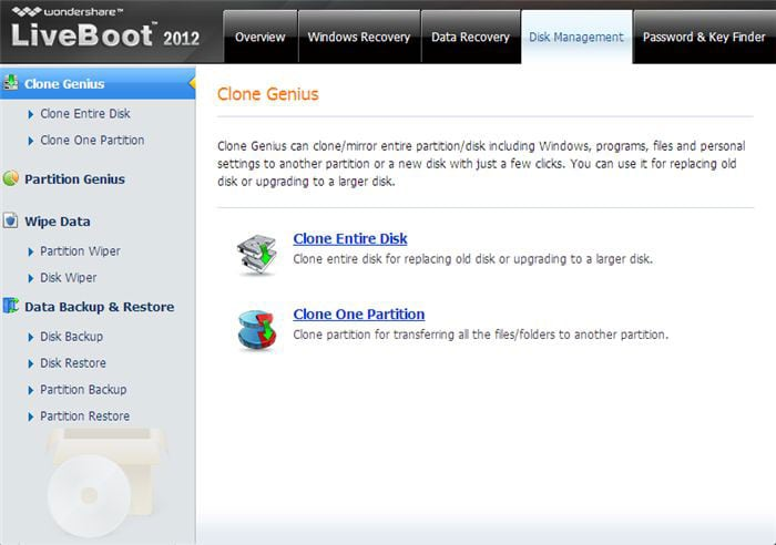 Wondershare LiveBoot Screenshot