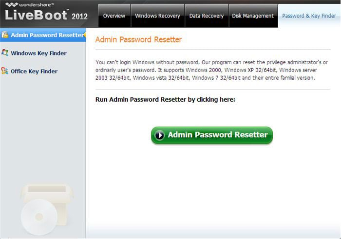 password reset disk for windows 7