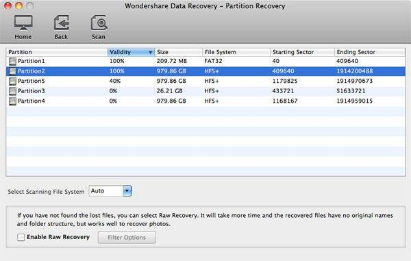 Choose Partition- Lost Partition Recovery