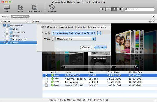iPhoto trash recovery