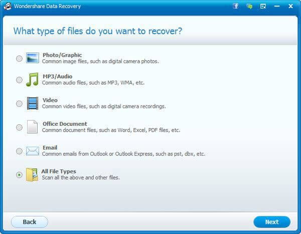 Wondershare Data Recovery tool for Words files recovery