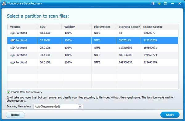 recover files from formatted partition
