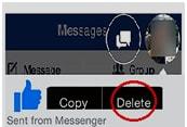 delete facebook message