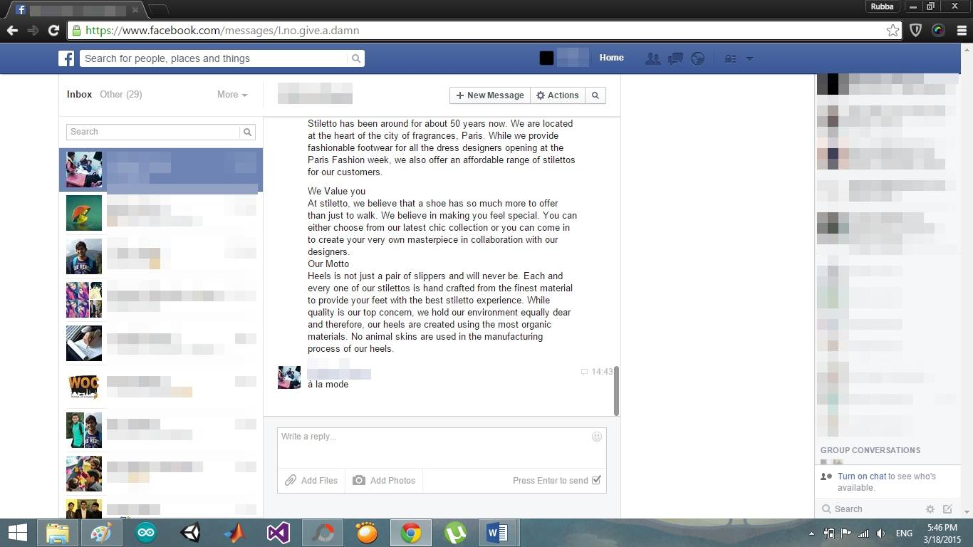 how to delete spam messages on fb