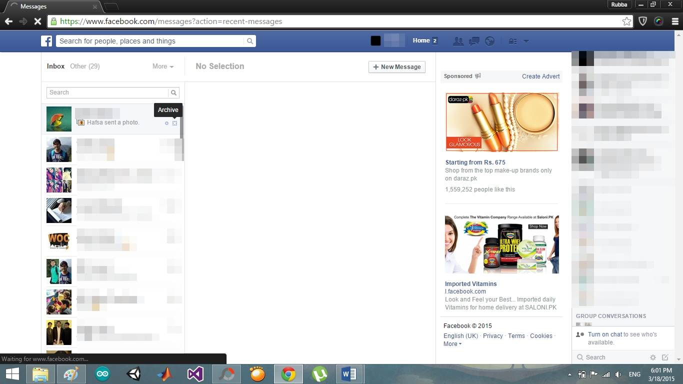 how to find deleted messages on fb