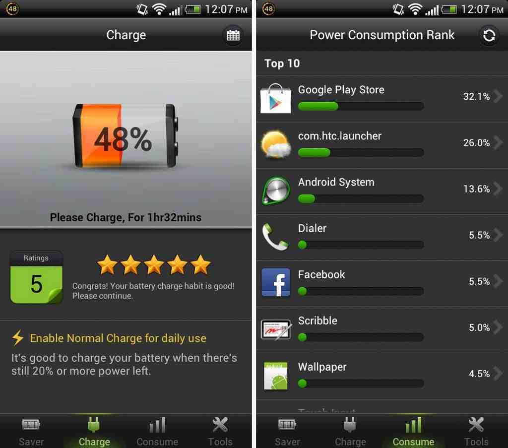 1 procent batteri på iphone
