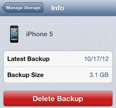 how to delete icloud backup