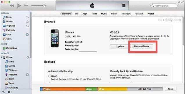 How to Restore from iTunes Backup
