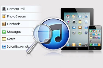 Scan & Extract iTunes Backup of Your iDevice