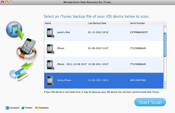 Wondershare Data Recovery for iTunes (50% Off)