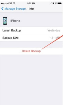 how to turn off icloud backup warning