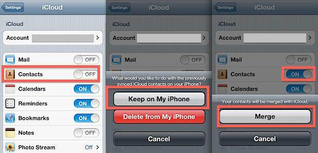 how do i retrieve contacts from icloud